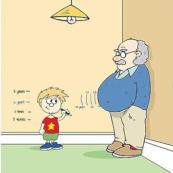Twizler Carte Humoristique Avec Petit Fils Grand Père Toise Et