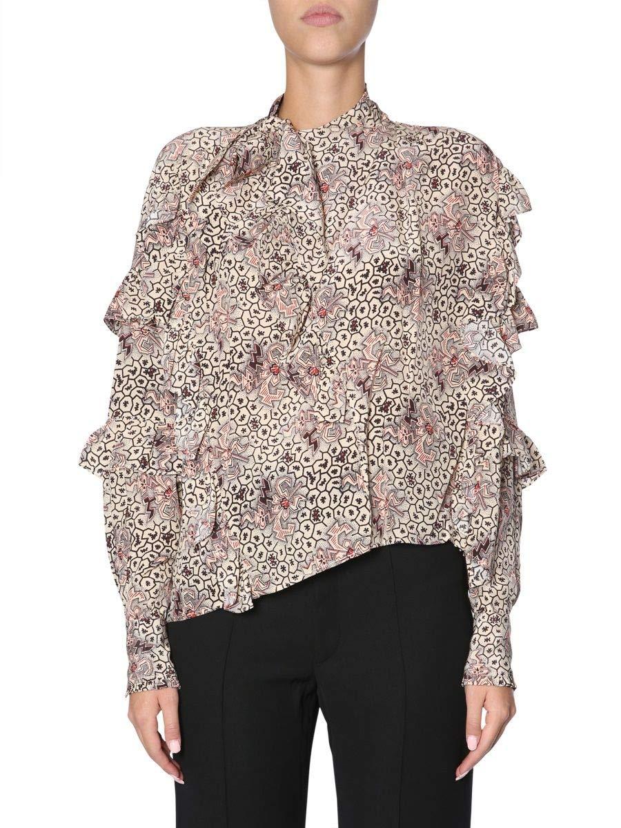 Isabel Marant Women's HT086918H033I90 Beige Silk Blouse
