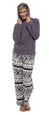 055450d68c11 Daisy Dreamer Ladies Fair Isle Hooded Pyjamas