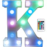 Pooqla Colorful LED Marquee Letter Lights with Remote – Light Up Marquee Signs – Party Bar Letters with Lights…