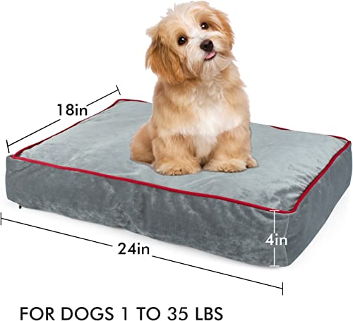 Cozy Hut Memory Foam Pet Bed Ideal for Aging Dogs Eases Pain of Arthritis