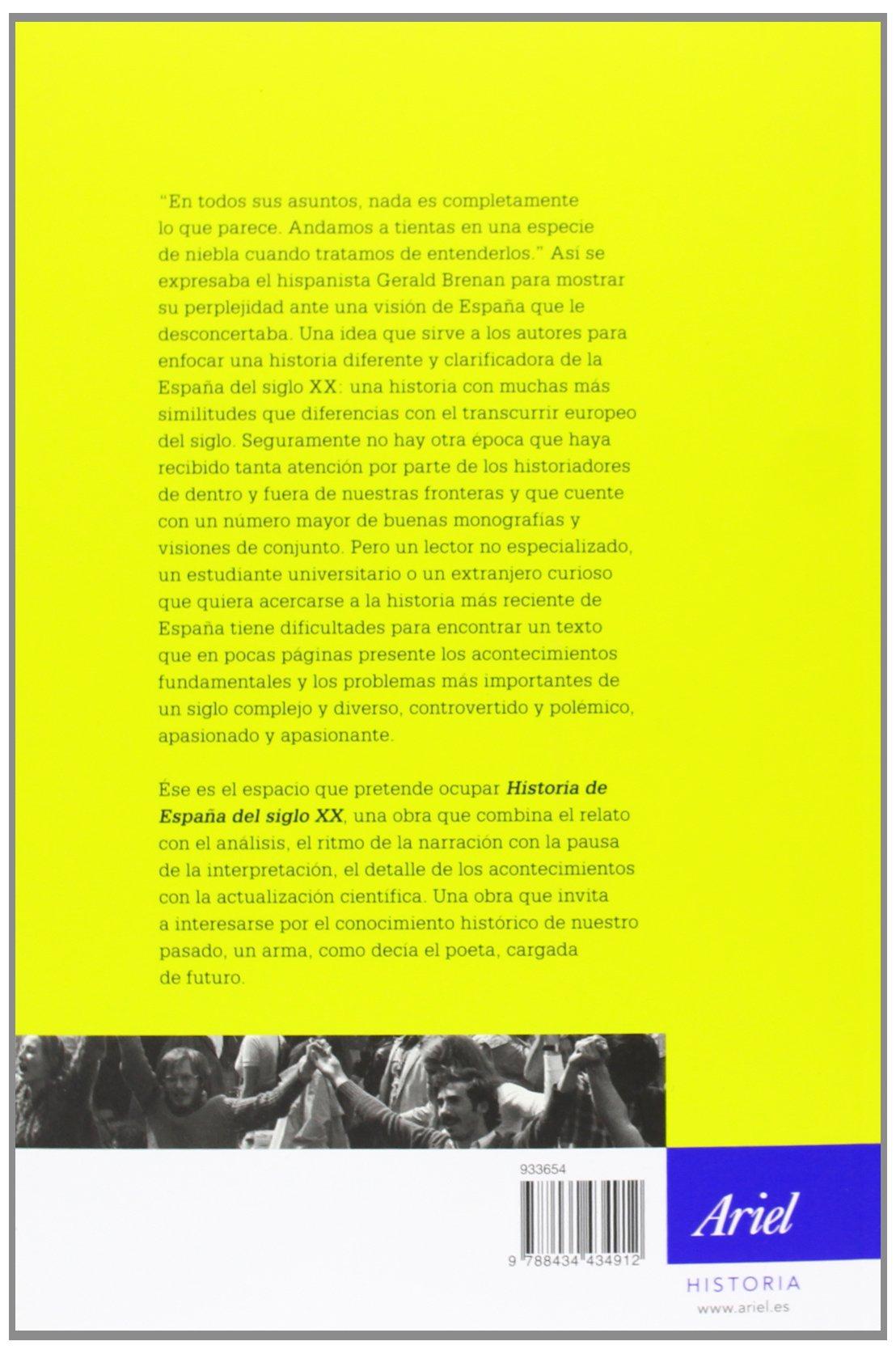 Historia de España en el siglo XX (Ariel Historia): Amazon.es: Gil Andrés, Carlos, Casanova, Julián: Libros