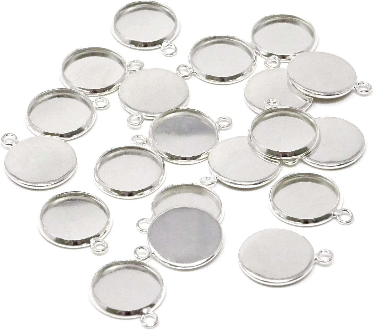 creative supplies for jewelry making 10 pendants cabochon round for silver cameo 20 mm