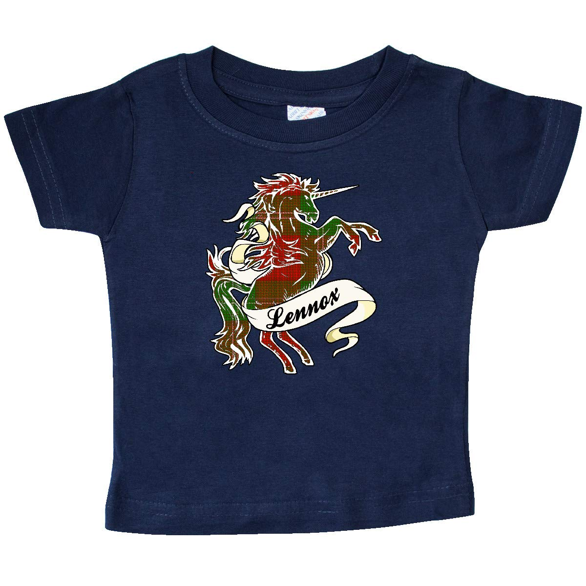 inktastic Lennox Tartan Unicorn Baby T-Shirt