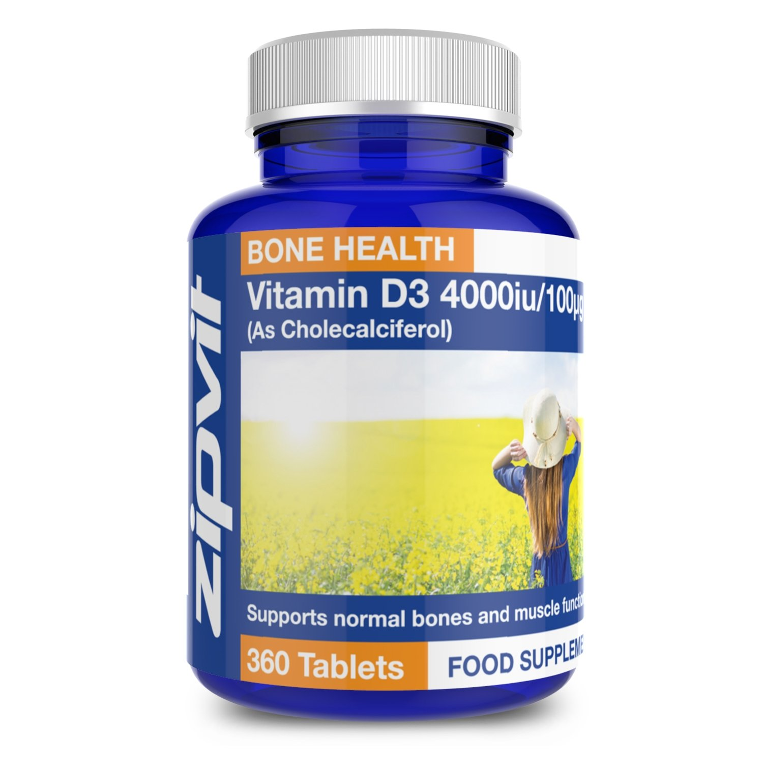Vitamin D3 4000iu x 360 Tablets - High Strength Vitamin D | Supports Bone & Muscle Function - Maintains Immune System | Vegetarian - 12 Months Supply product image
