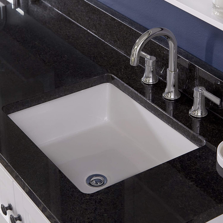 "PROFLO PF1713UWH PROFLO PF1713U 19-7/8"" Undermount Bathroom Sink with Overflow"