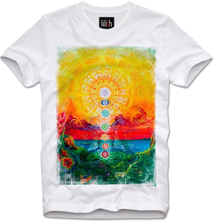 T-shirt Trippy Lsd Acid Chakra Meditation Yoga Psychedelic Consicious India Goa Esoteric T