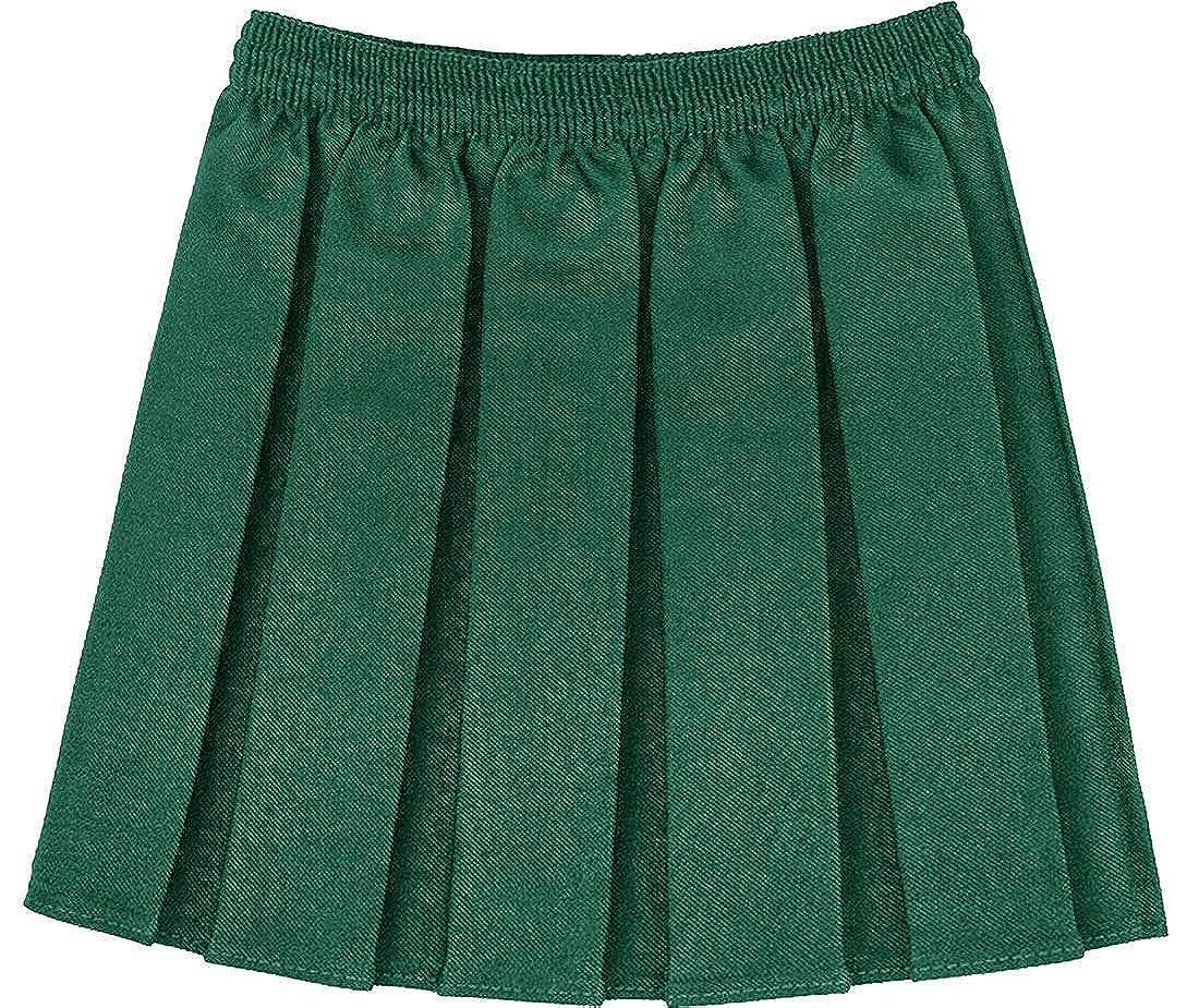 Kids School Uniform Stretchy Elasticated Skirt Girls Box Pleated Mini Skirt