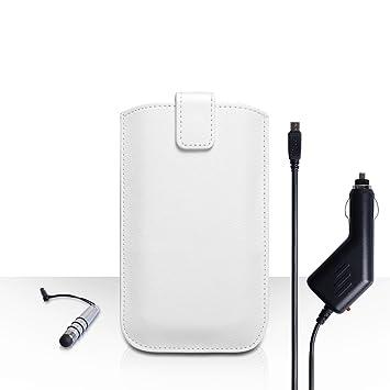 Caseflex Funda Samsung Galaxy J5 funda blanco cuero PU bolsa ...
