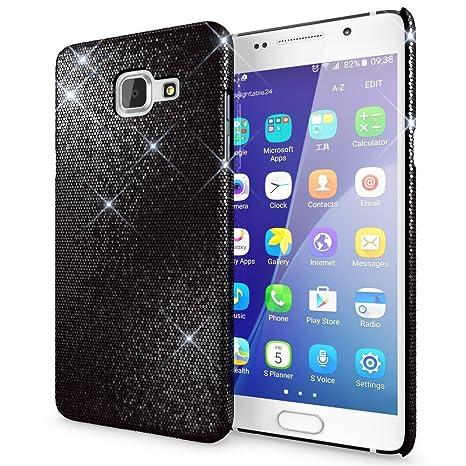 NALIA Funda Carcasa para Samsung Galaxy A5 2016, Protectora Movil Purpurina Cubierta Dura Delgado Glitter Hard-Case, Bumper Phone Cover Lentejuela ...