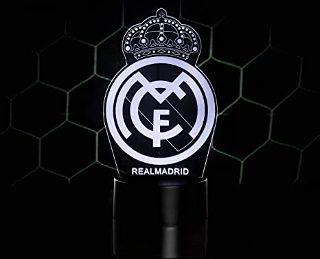 3D LAMPARAS Oficial Escudo del Real Madrid CF Lámpara Original ...