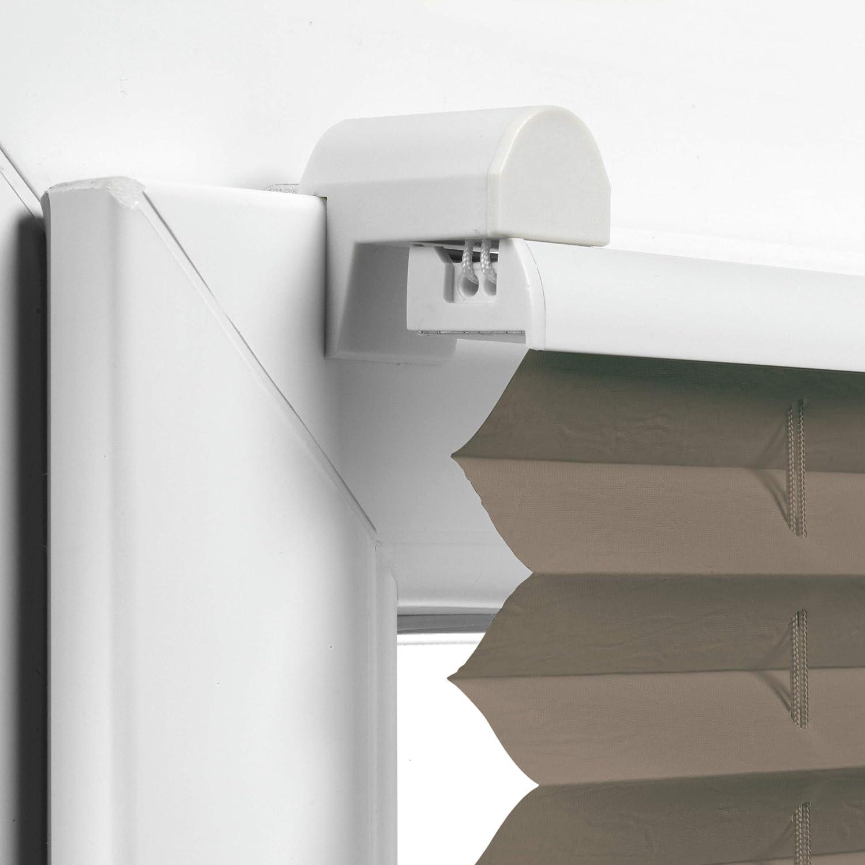 Store Pliss/é /à 2 Rails EASYFIX 40 x 130 cm BxH Gardinia Store Pliss/é /à Clipser Taupe Opaque Kit de Montage Inclus