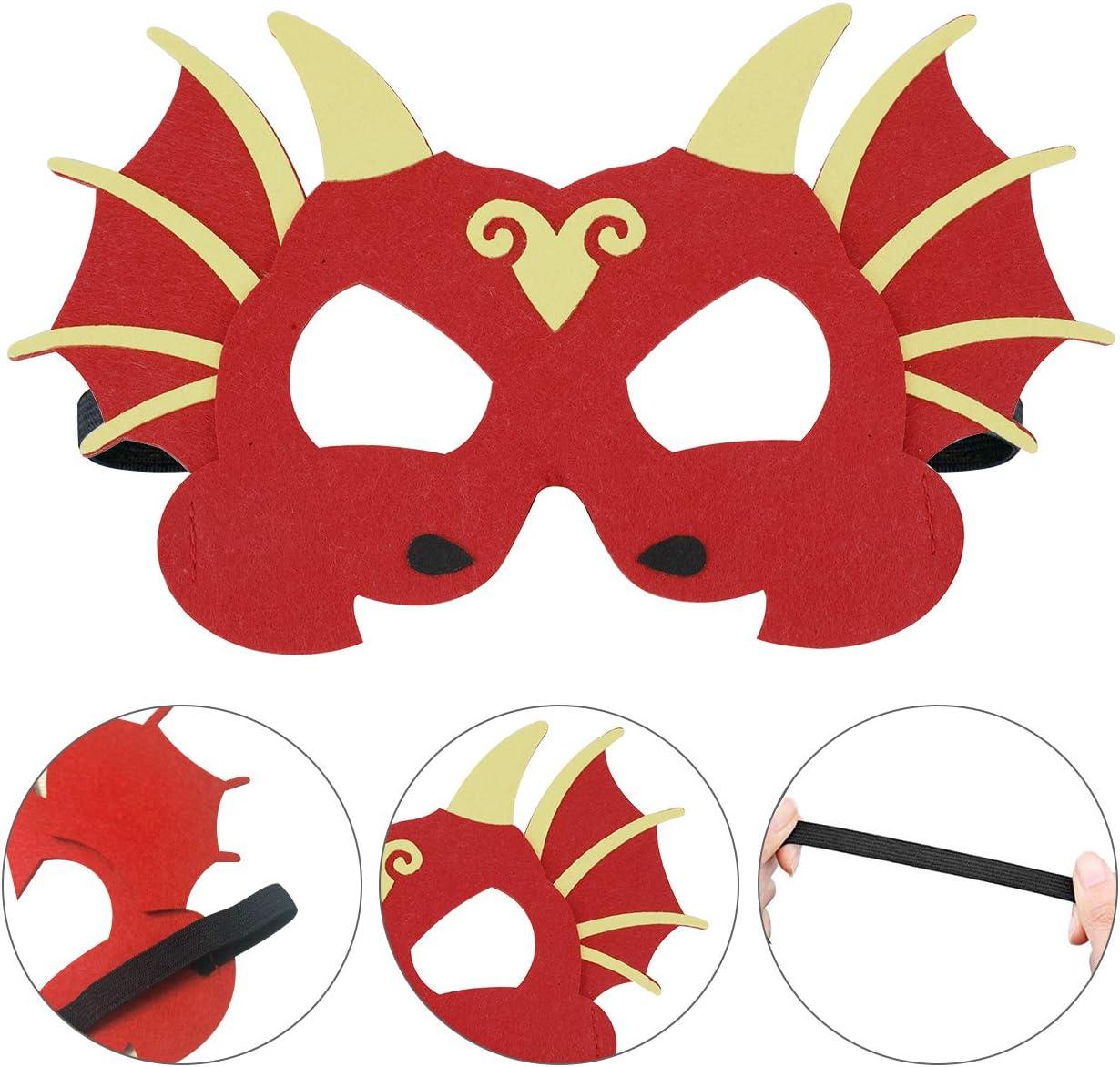 SUNSHINETEK Dinosaurier Party Masken 24er Pack Kinder Dinosaurier Schaum Masken Kinder Tier Gesichtsmasken f/ür Party Favors Dekorationen