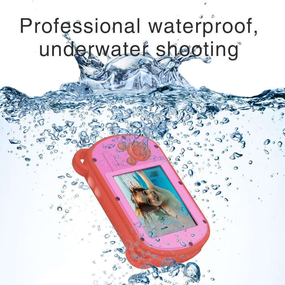 Underwater Camera for Kids, HD 1080P Waterproof Kids Camera, Video Recorder Action Preschool Camera, 8X Digital Zoom Camera with Flash & Microphone Sticker by GordVE (Image #4)