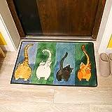 CH Cute Cat Printed Doormat Rectangle Floor Mat 16'' x 24'' for Children's Room Living Room Bathroom Kitchen (Style 5)