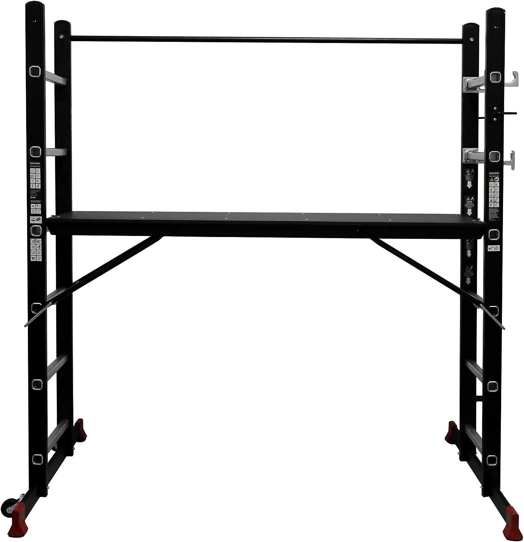 STIER Ger/üst-Arbeitsb/ühne 150 kg DIN EN 131 Mehrzweckleiter Arbeitsger/üst Arbeitsb/ühne