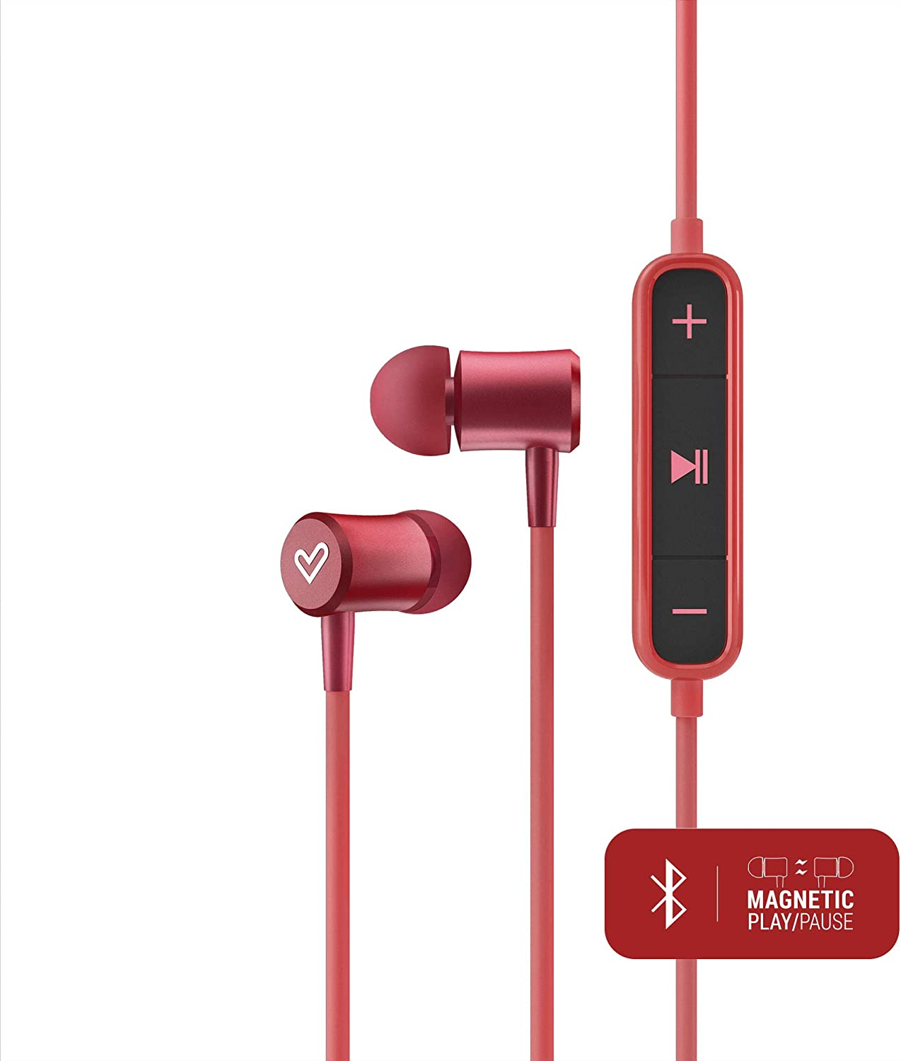 Energy Sistem Earphones BT Urban 2 Rojo (auriculares inalambricos, Bluetooth, Magnetic Switch, In-Ear, Control Talk)