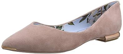 523956767e05 Ted Baker London Women s Mancies Closed Toe Ballet Flats  Amazon.co ...