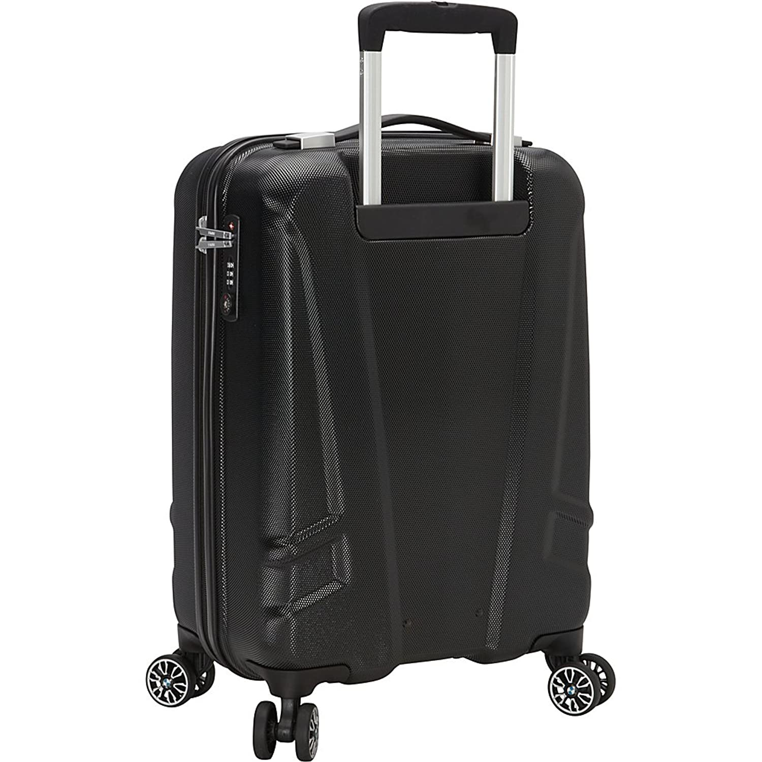 Amazon com bmw luggage 19 carry on split case 8 wheel spinner black carry ons