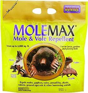 Bonide (BND692150) - Molemax Mole & Vole Burrowing Animal Repellent, Rodent Repellent Granules (10 lb.)
