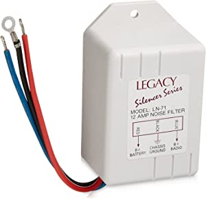 Legacy Noise Suppressor - Rated 12 Amps Power and Reduces or Eliminates Engine Interference - Compatible with Receiver, Equalizers and Amplifiers for Car Stereos - LN71