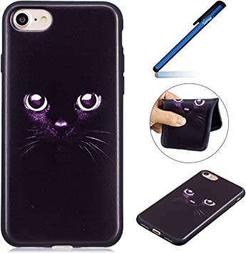 coque iphone 7 silicone noir chat