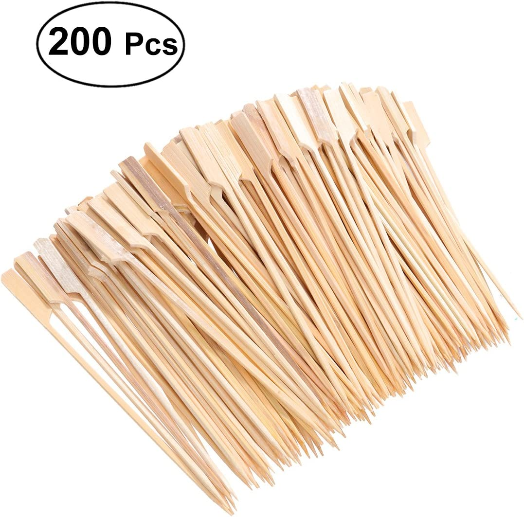 Ounona, 200 palitos de asar de bambú para barbacoa de frutas, 18cm