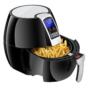 Super Deal 3.7Quart Electric Air Fryer w/ 8 Cooking Presets, Temperature Control, Auto Shut off & Timer, LCD Digital Display Screen