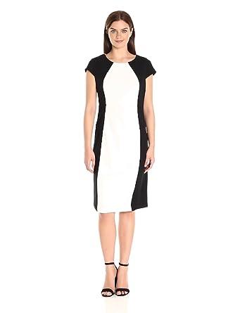91321f6b695 Ronni Nicole Women s Cap Sleeve Color Block Midi at Amazon Women s ...