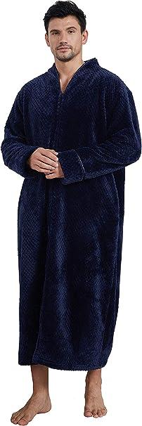 Damen Herren Kapuzen Soft Fleece Bademantel Saunamantel Morgenmantel Nachtwäsche