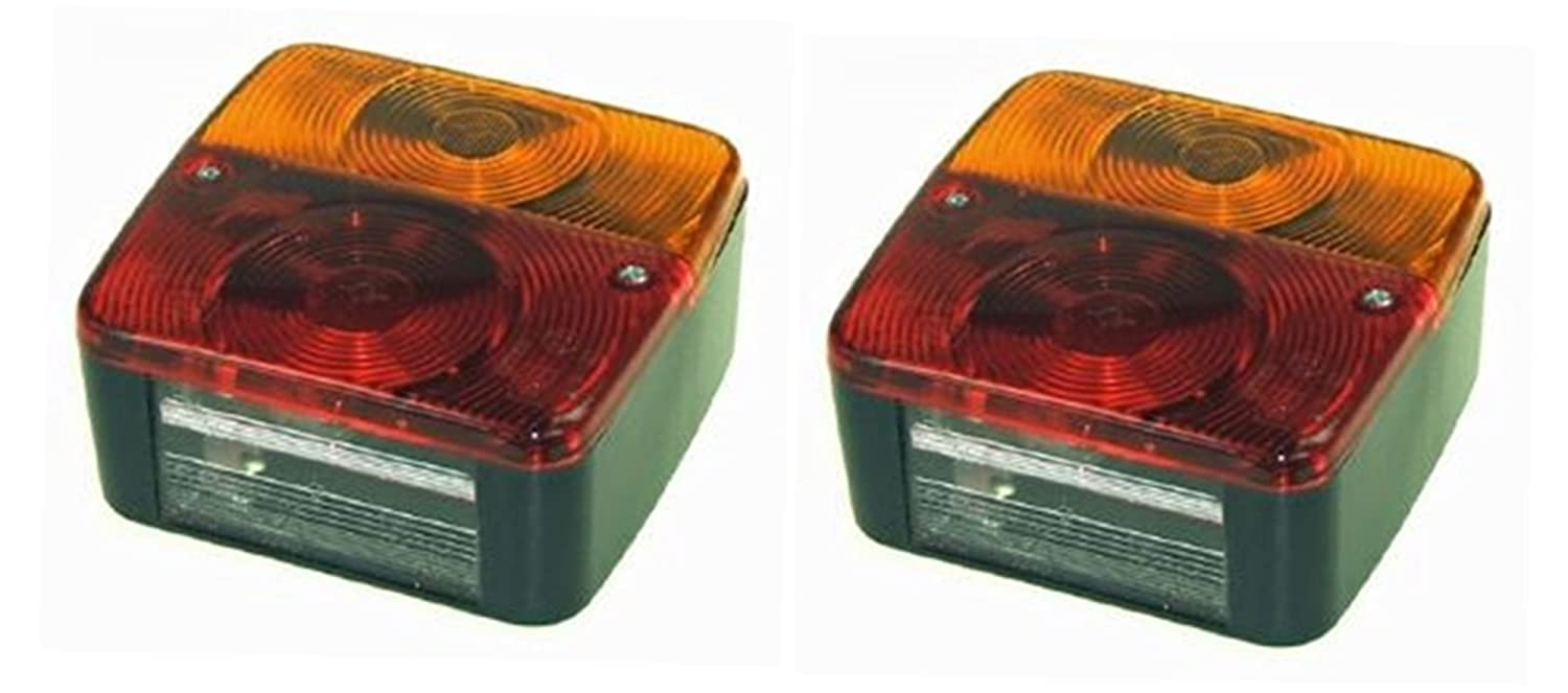 2 x Rear trailer lights lamps four function (pair) suitable for ...