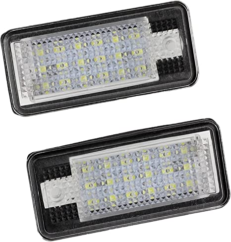 REFURBISHHOUSE/2X 18 LED Plaque dimmatriculation Lampe de Lumiere pour Audi A3 S3 A4 S4 B6 A6 S6 A8 S8 Q7