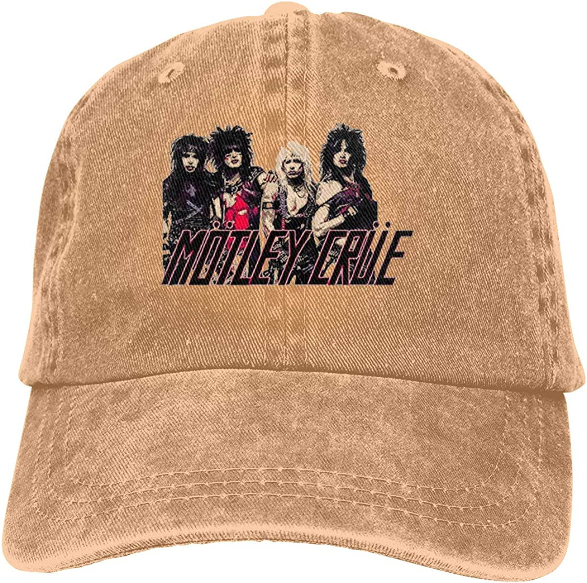 Zlizhi The Dirt Soundtrack Motley Crue Men Women Plain Cotton Adjustable Washed Twill Low Profile Baseball Cap Hat