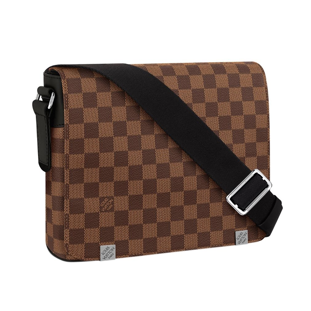 aa59e1b69c027 Louis Vuitton Damier Ebene Canvas District PM Cross Body Shoulder Handbag  N41031 Made in France  Handbags  Amazon.com