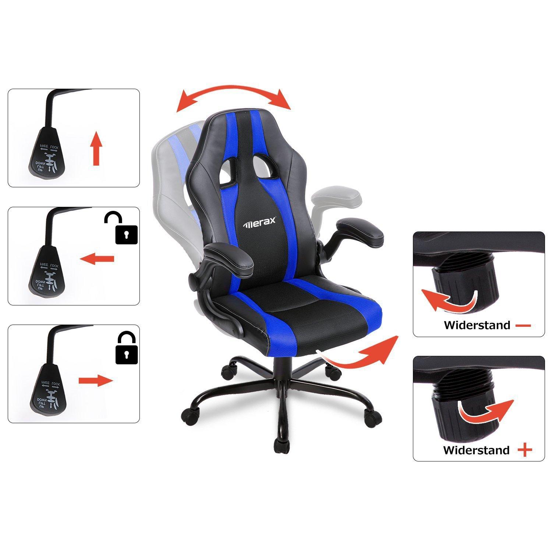 Merax Schreibtischstuhl Racing Stuhl Burostuhl Gaming Stuhl