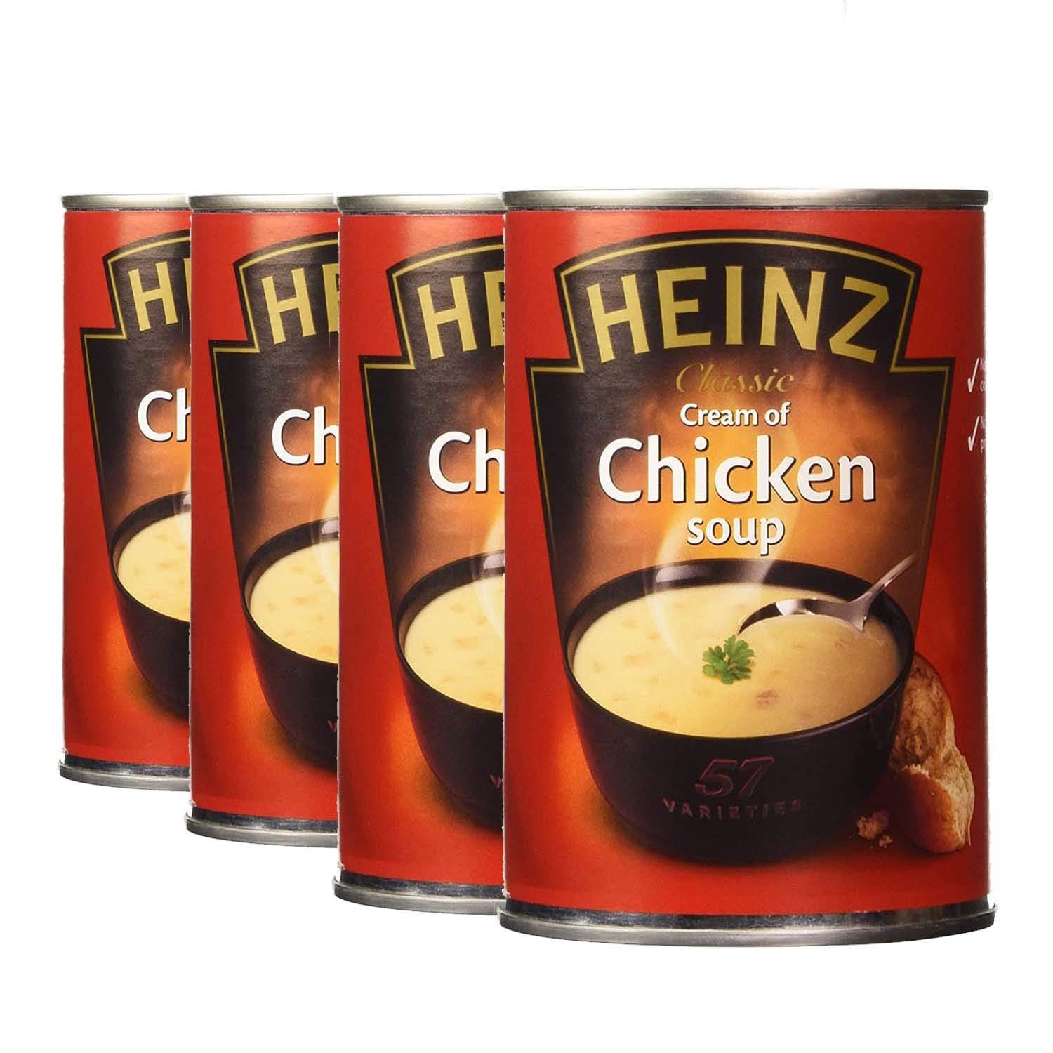 Heinz Cream of Chicken Soup Can 4 Pack, 4 x 400 g