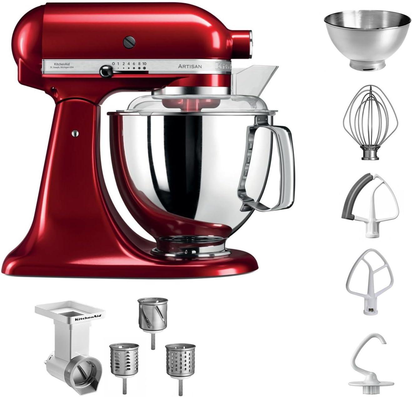KitchenAid 5 ksm175pseca + MVSA Artisan Robot de cocina + Cortador de verduras, color rojo: Amazon.es: Hogar