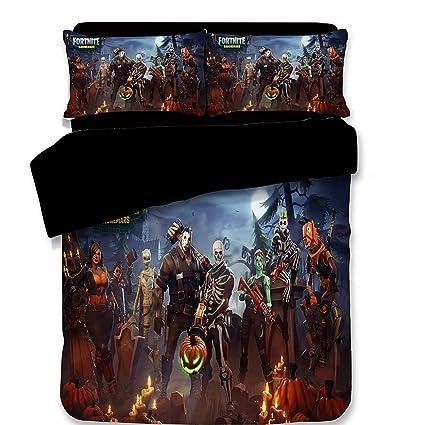 Amazon com: Fortnite Battle Royale Game Pattern Bedding Set Single