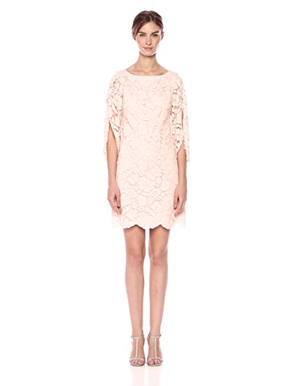 e697b1ff3fd0 VINCE CAMUTO Women's Sleeved Lace Shift Dress, Blush, 4 at Amazon Women's  Clothing store: