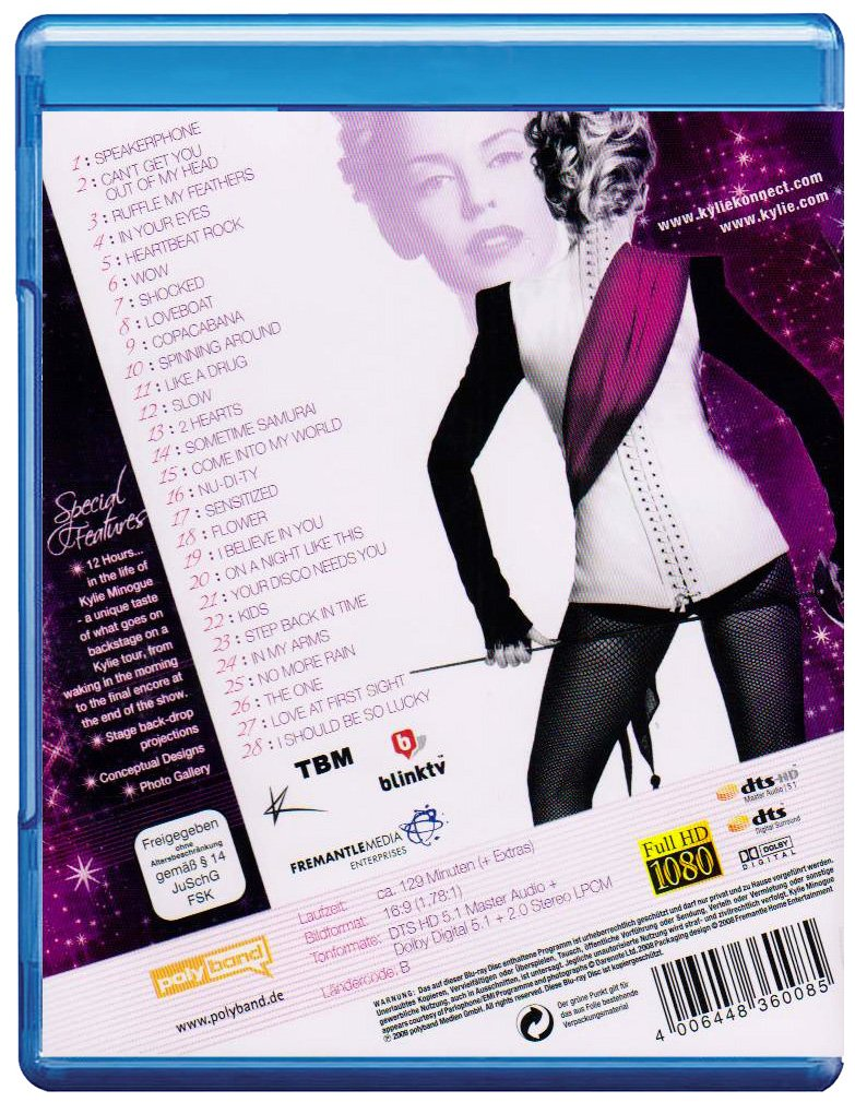 Kylie Minogue - Kylie X 2008/Live Alemania Blu-ray: Amazon.es ...