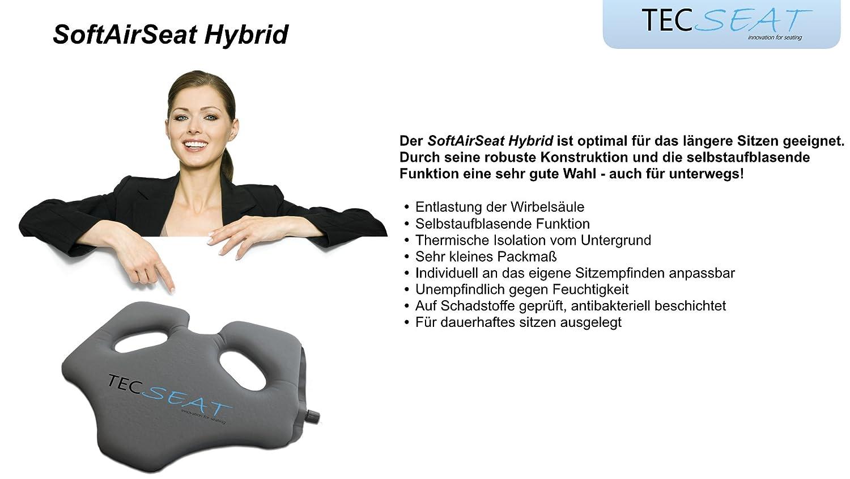autom/óvil oficina Almohada de asiento autoinflable para exteriores viaje vuelo SoftAirSeat Hybrid