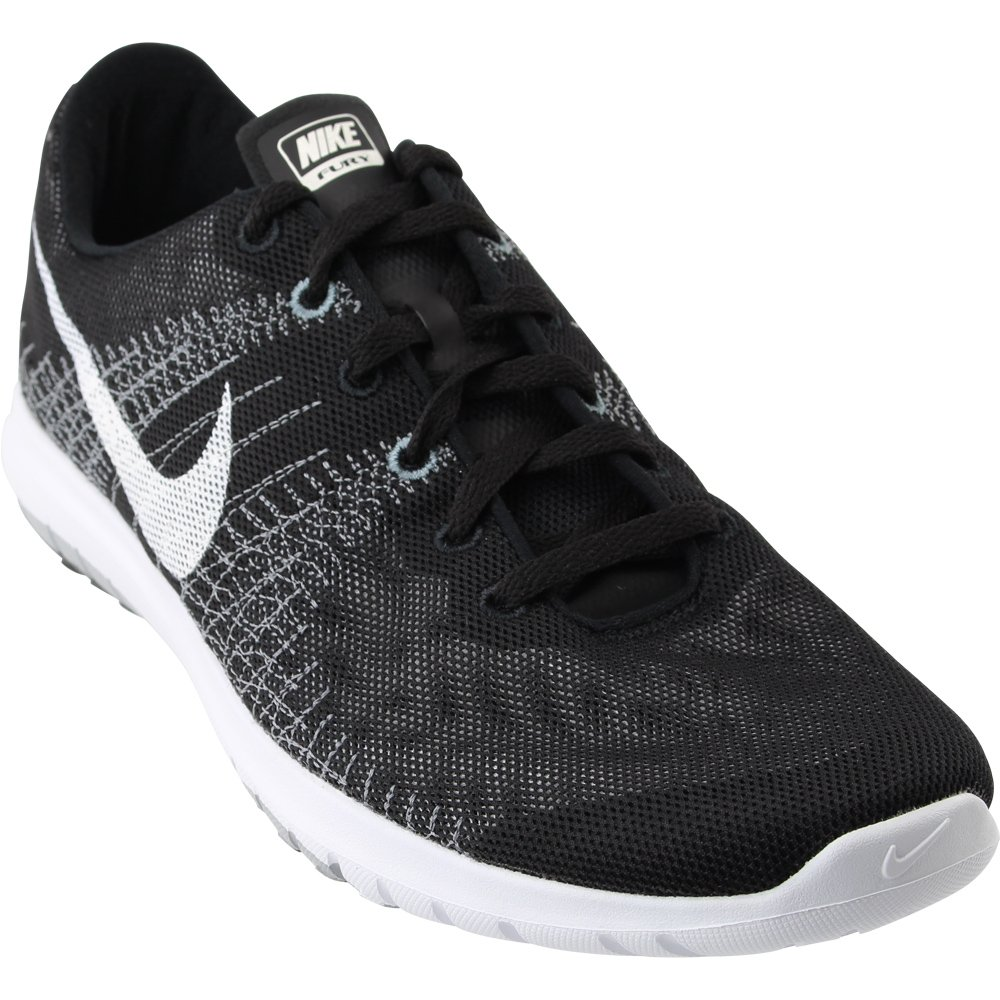 5283d6d4bb39 Galleon - NIKE Men s Flex Fury Black White Wolf Grey Cl Grye Running Shoe  11.5 Men US