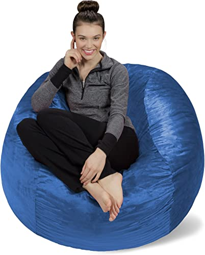 Sofa Sack – Plush, Ultra Soft Bean Bag Chair – Memory Foam Bean Bag Chair with Microsuede Cover – Stuffed Foam Filled Furniture and Accessories for Dorm Room – Royal Blue 4