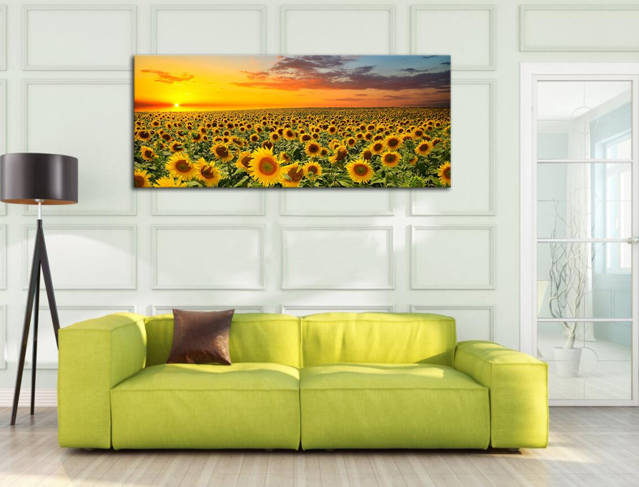 Amazon.com: Sunflower Canvas Wall Art Prints, Brilliant Sunflower ...