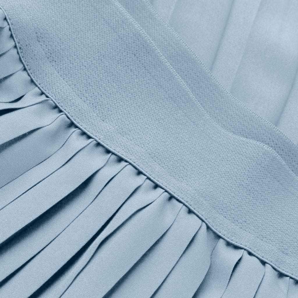 B07XYB42ZC Womens Pleated High Waist Fold Solid Vintage Loose Beach Wrap Maxi Long Skirt 51hVkdyxOyL