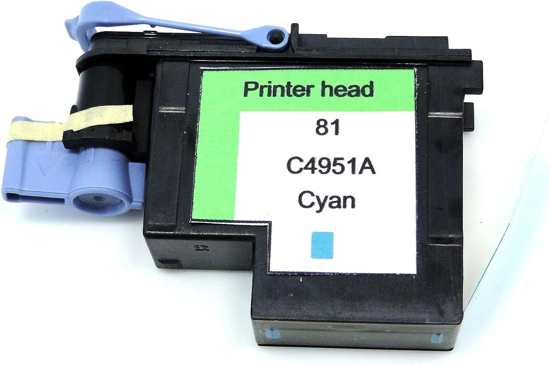 yotat – Cabezal de impresión para HP 81 C4951 A cabezal de impresión Designjet 5000, 5000ps, 5500, 5500ps, Cian: Amazon.es: Oficina y papelería