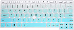 Leze - Keyboard Cover Compatible with ThinkPad X260 X270 X280 X390 X395 L390, X380 Yoga, X390 Yoga, ThinkPad X13, X13 Yoga Laptop - Gradual Mint