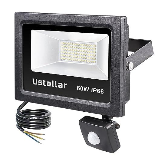 50W LED Fluter Flutlicht Scheinwerfer Außenlampe mit Bewegungsmelder Sensor IP66