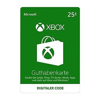 Carte Xbox 25.Xbox Live 25 Eur Guthaben Xbox Live Online Code Amazon