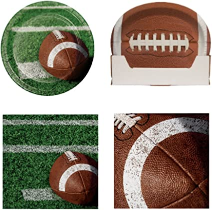 Napkins 16 16 Game Day Football Tailgate Party Plates